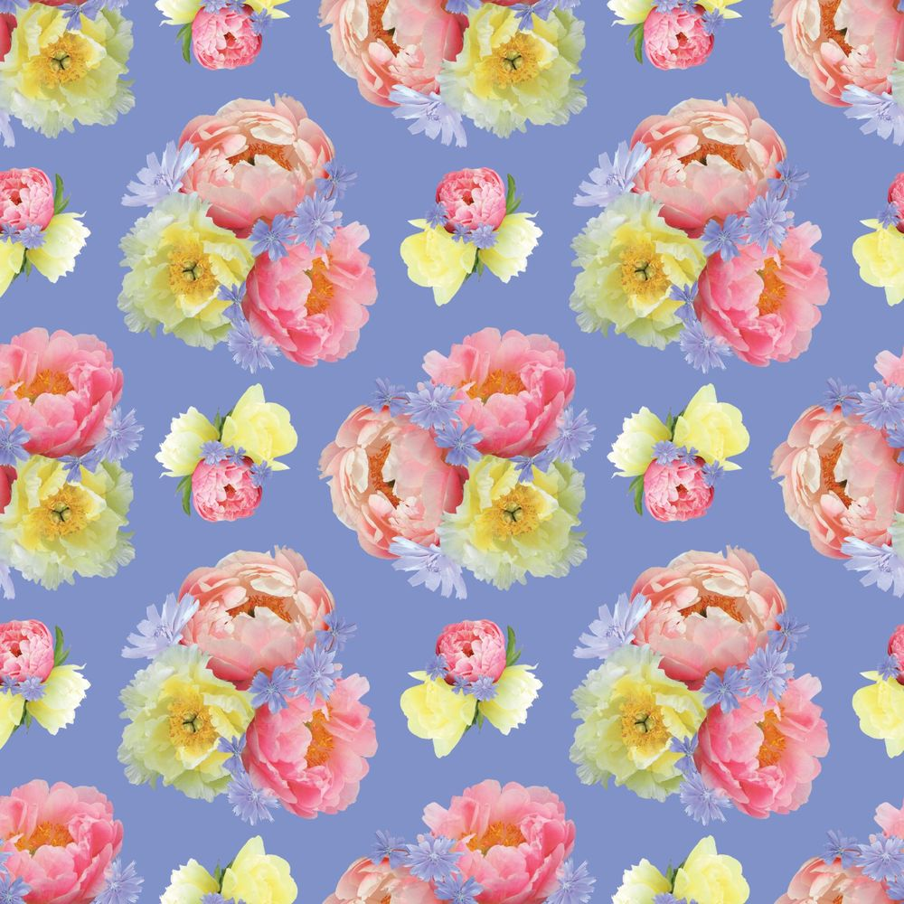Pattern design from floral motifs - image 1 - student project