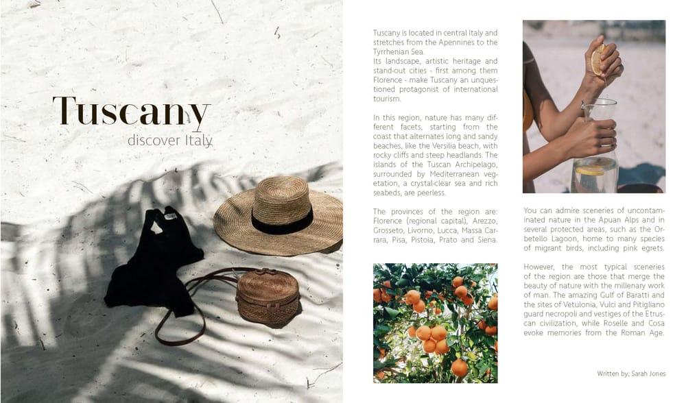 travel & style magazine - image 2 - student project