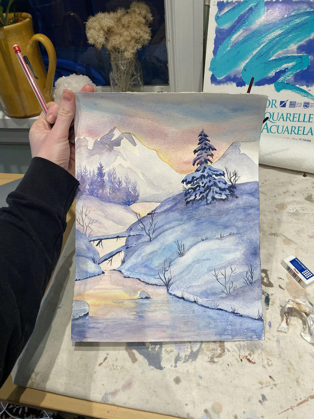 Sunset wintery landscape - image 2 - student project