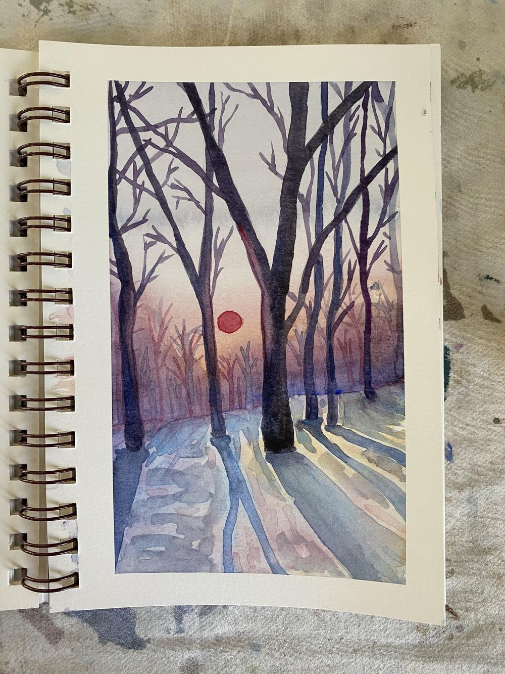 Winter forest landscape - image 2 - student project