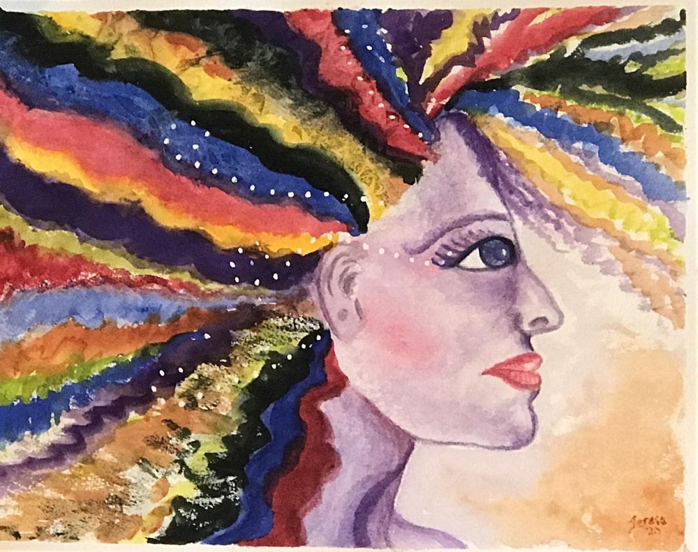 Abstract Lady Portrait - image 1 - student project