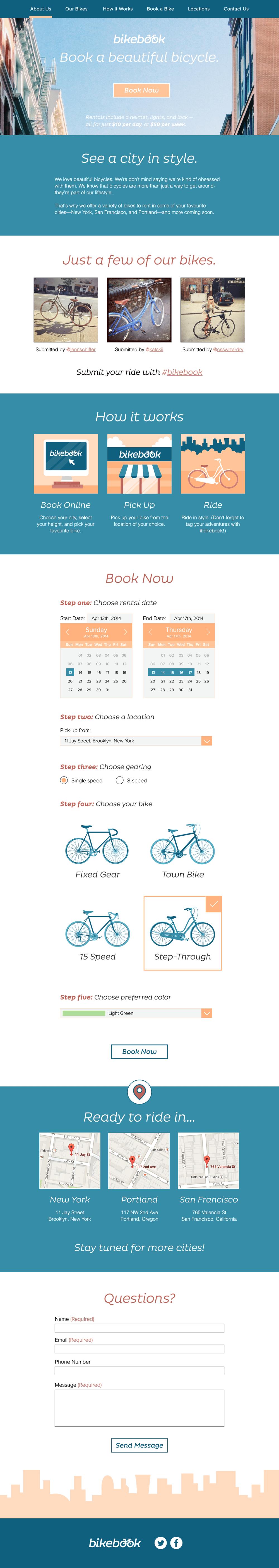 Bikebook Website - image 3 - student project