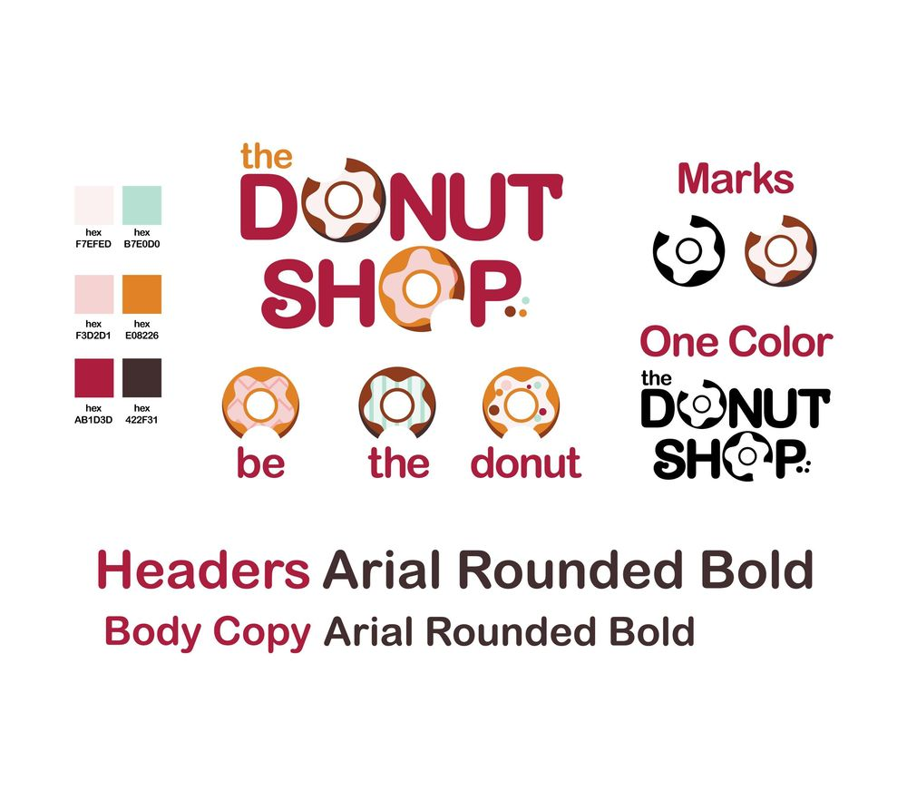 The Donut Shop Logo/Branding - image 1 - student project