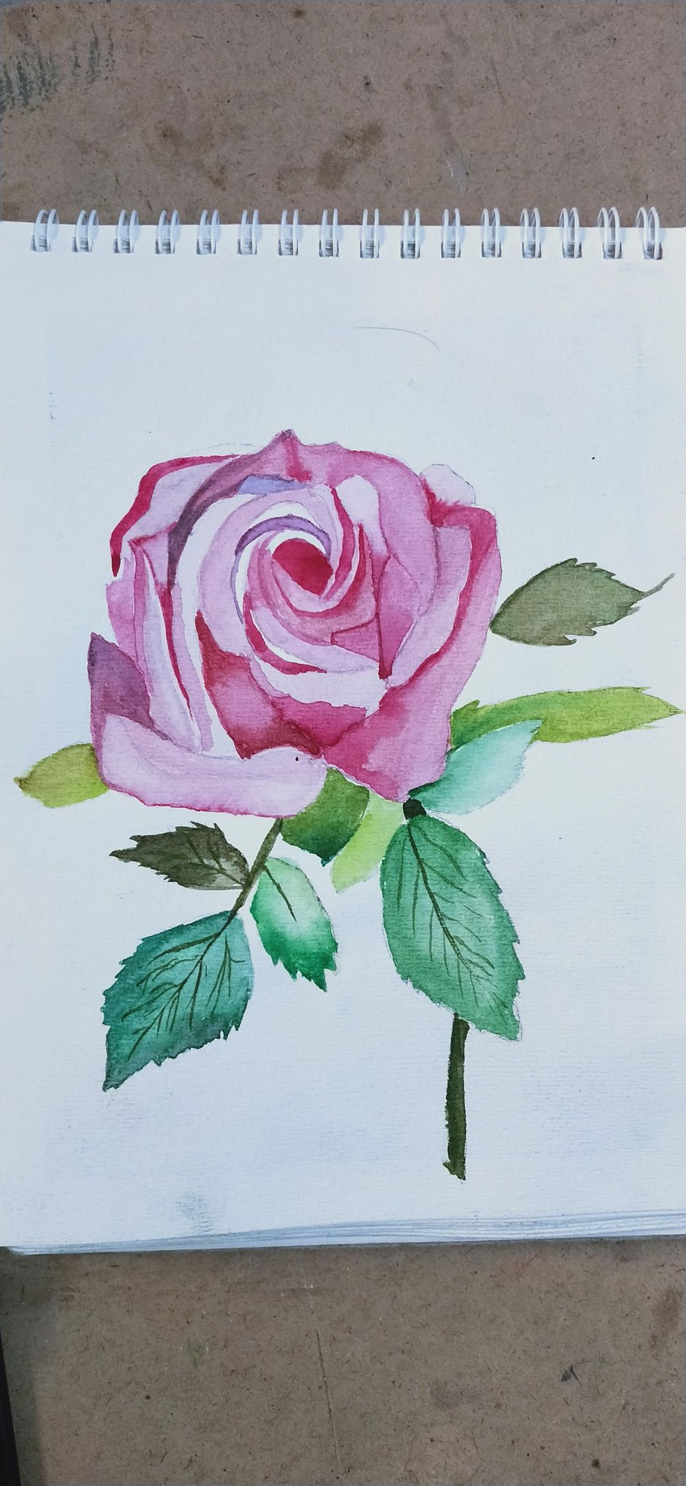 Watercolor painting of a Rose - image 1 - student project