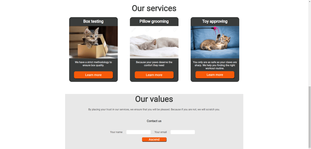 If cats made a website - image 3 - student project