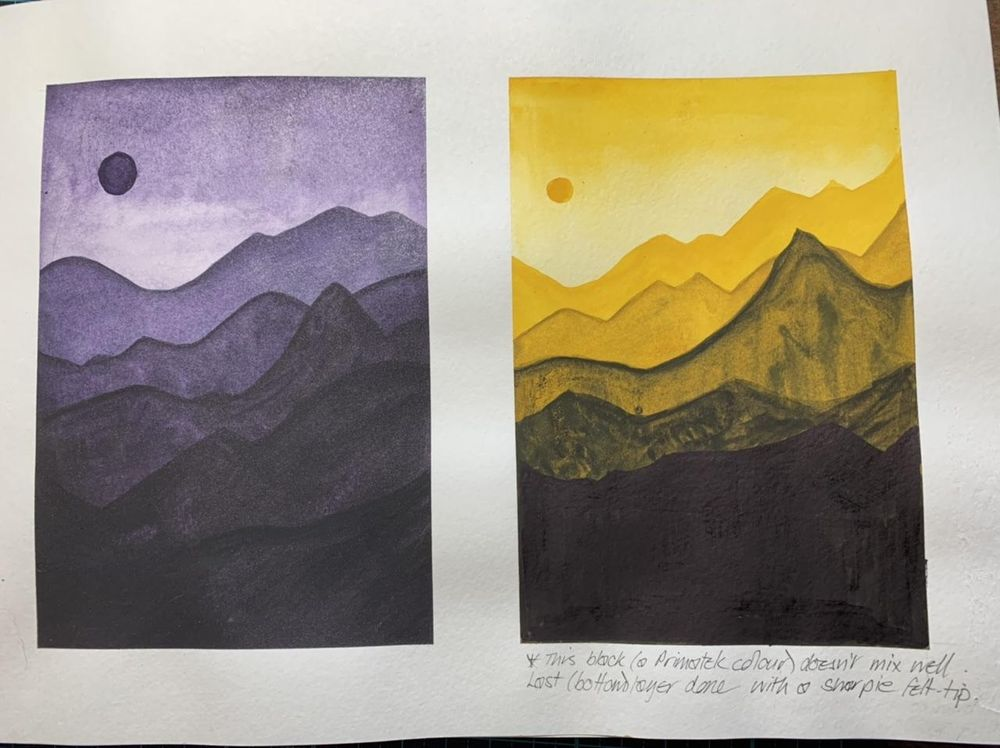Layered mountains - image 1 - student project