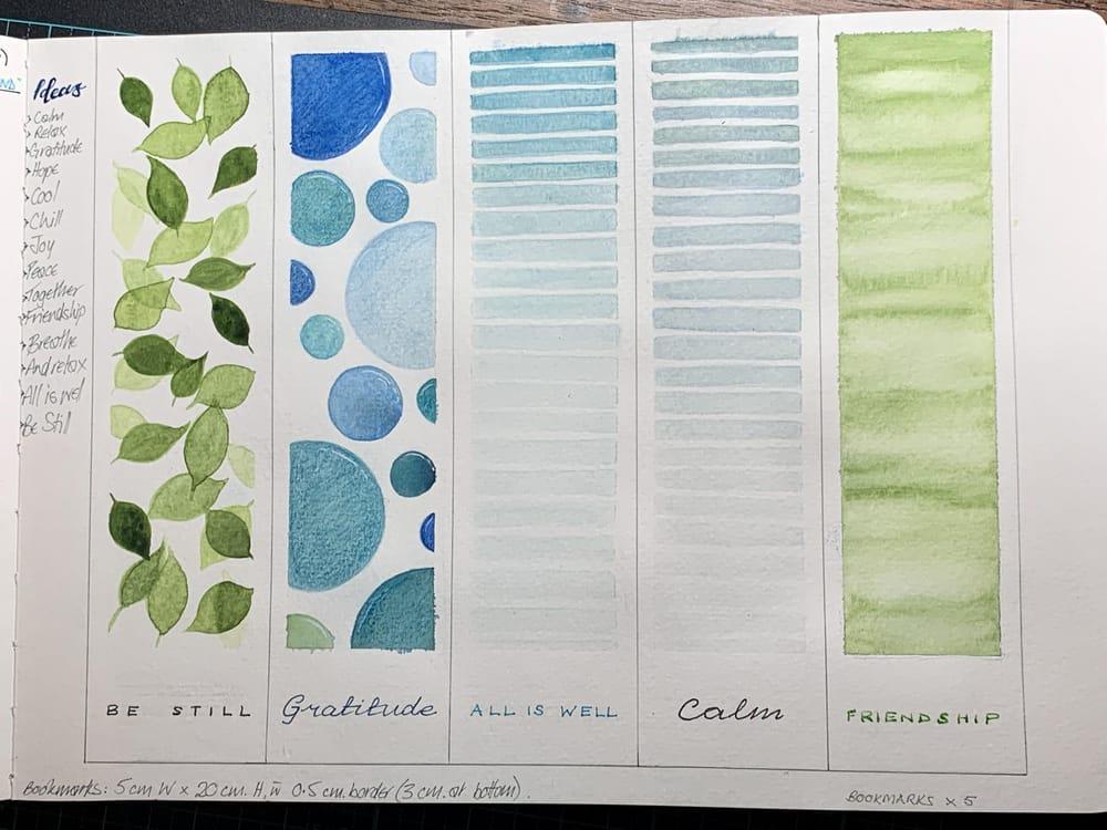 Bookmarks in sketchbook - image 2 - student project