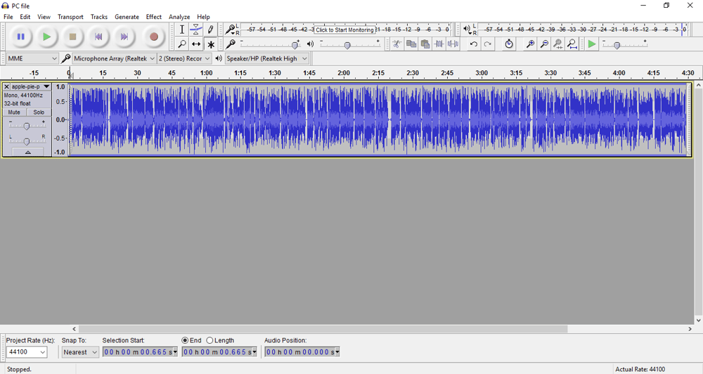 First Class Audio File - image 1 - student project