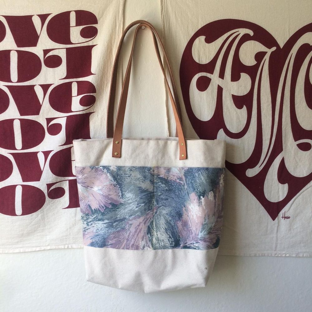 Abstract Feather Tote - image 1 - student project