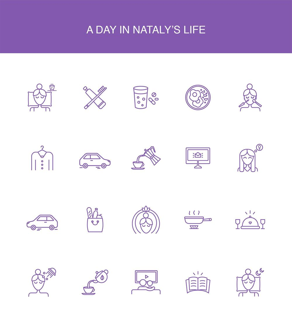 A day in Nataly's life icons - image 1 - student project