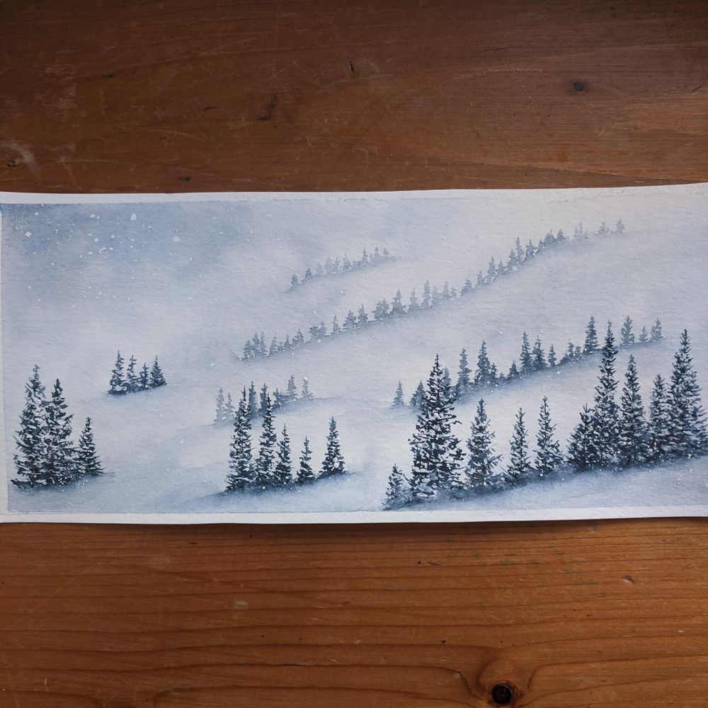 Misty mountains - image 1 - student project