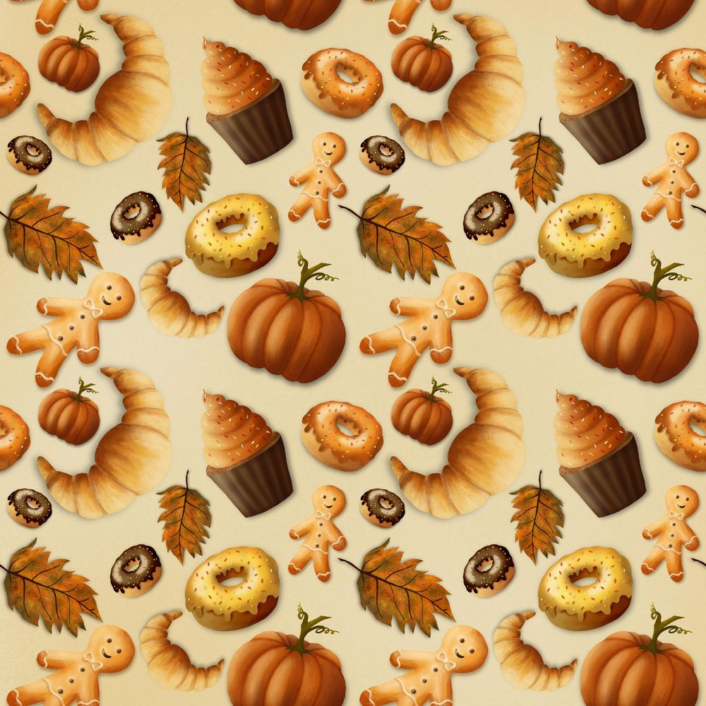 Autumn pattern - image 1 - student project