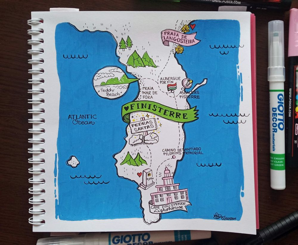 Map of Finisterre (Spain) - image 1 - student project
