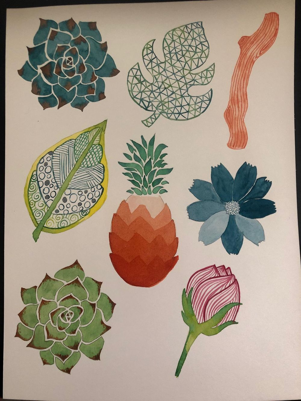 Watercolor exercises - image 7 - student project