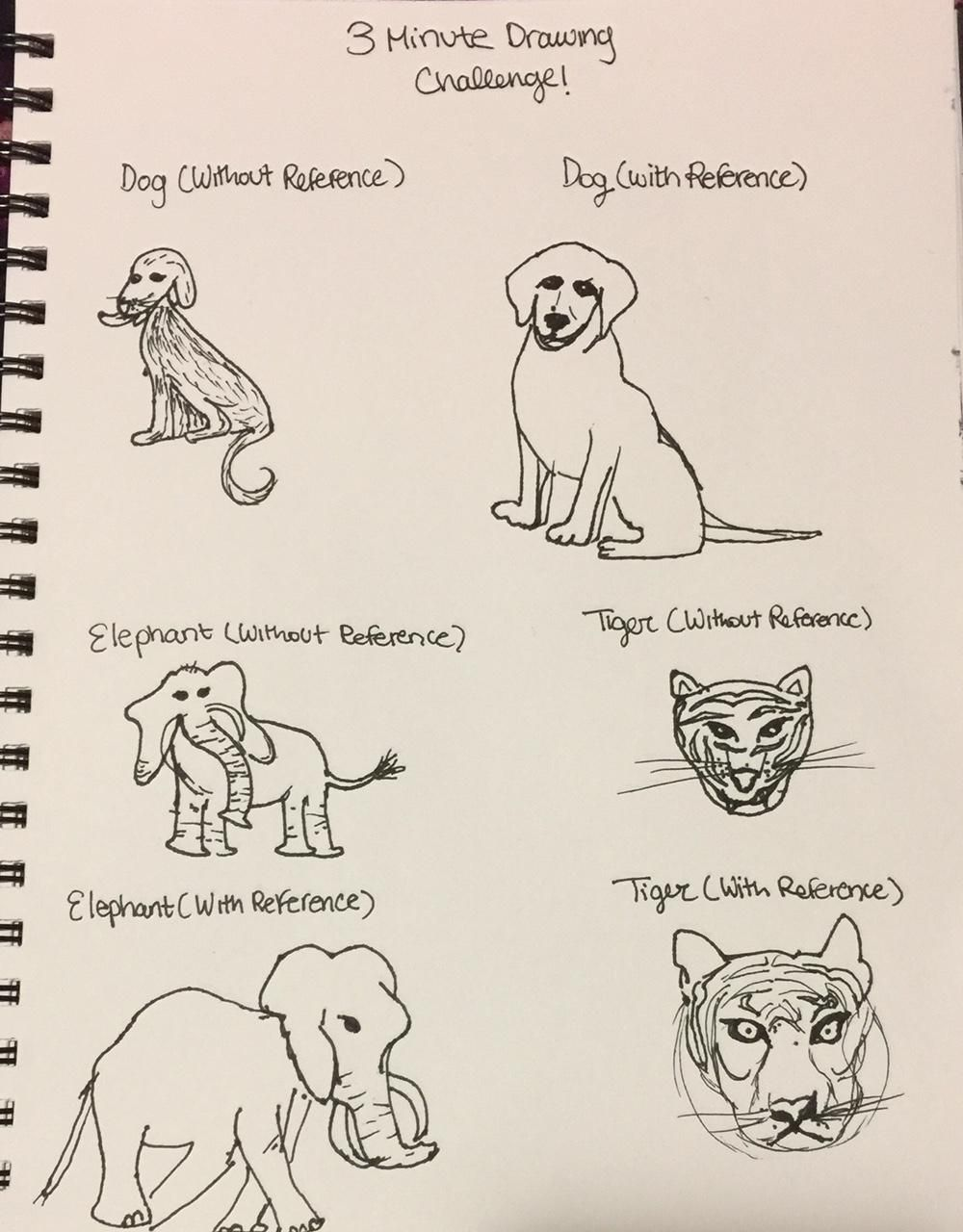 3 mins Sketches: Animals - image 1 - student project