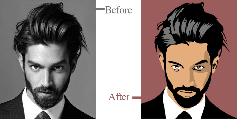 How to convert a photo into a cartoon easily using Photoshop - image 1 - student project