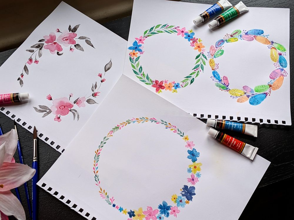 Floral wreaths with Vidhi!! - image 1 - student project