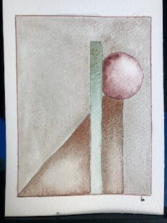 geometric watercolor - image 2 - student project