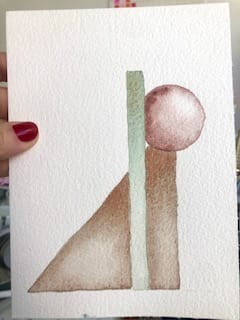 geometric watercolor - image 1 - student project