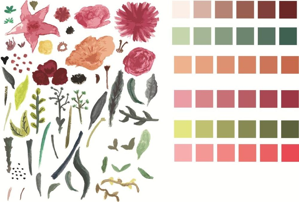 Watercolor pattern - image 1 - student project