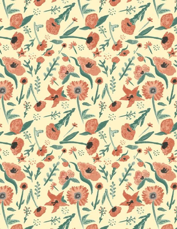 Watercolor pattern - image 2 - student project