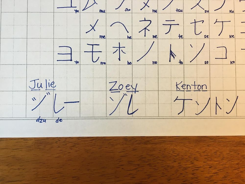 My First Attempt at Katakana! - image 3 - student project