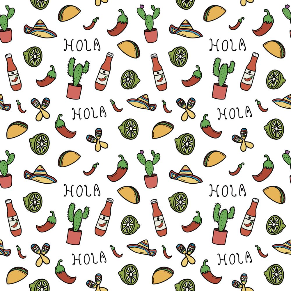 Mexico themed pattern - image 3 - student project