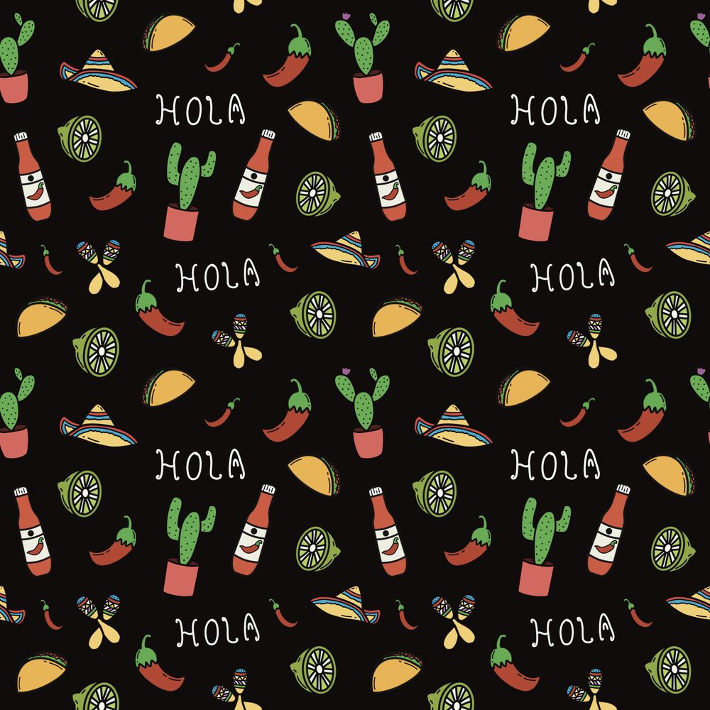 Mexico themed pattern - image 1 - student project