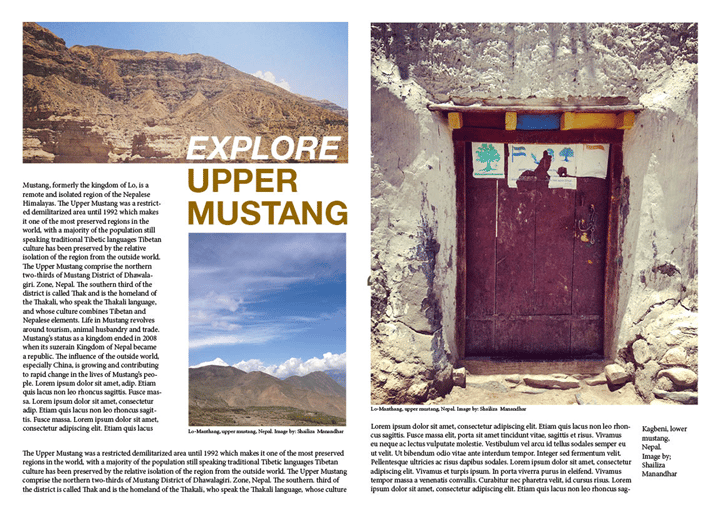 Explore Upper Mustang - image 2 - student project