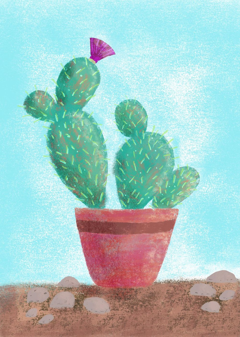 textured cactus - image 1 - student project
