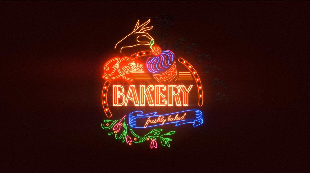 Kate's Bakery sign - image 1 - student project