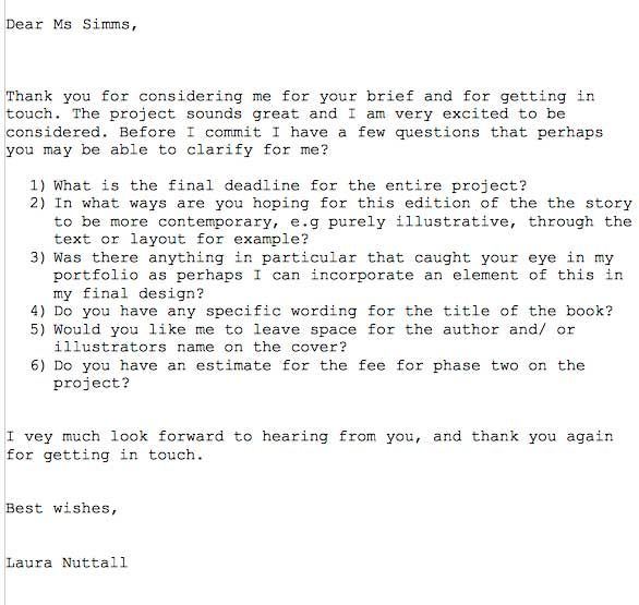 Mock Email to Art Editor - image 1 - student project