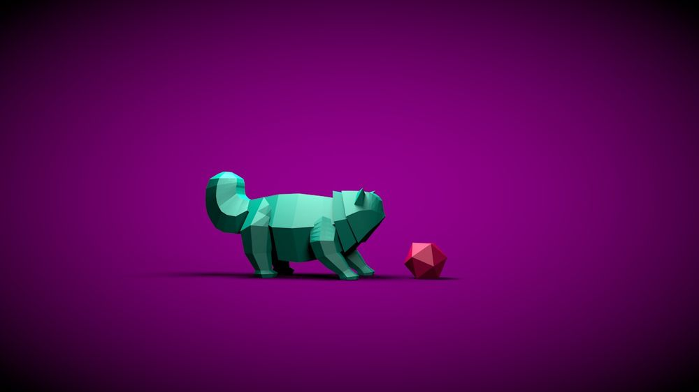 Lowpoly Kitty - image 1 - student project
