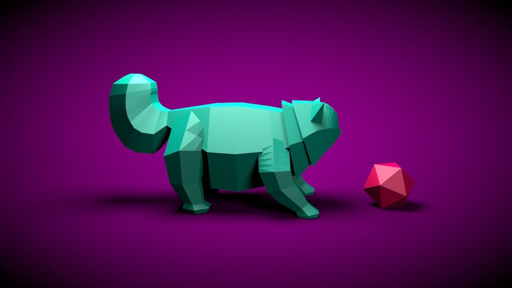 Lowpoly Kitty - image 2 - student project