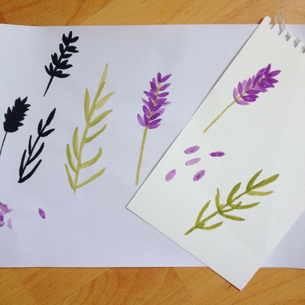 Lavender pattern - image 1 - student project