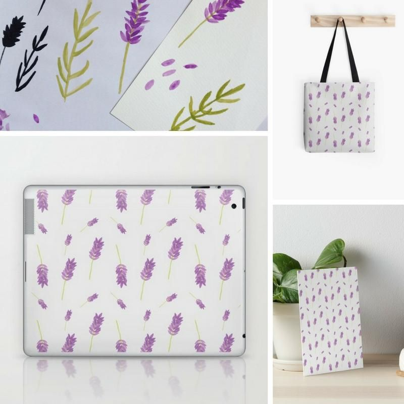 Lavender pattern - image 3 - student project