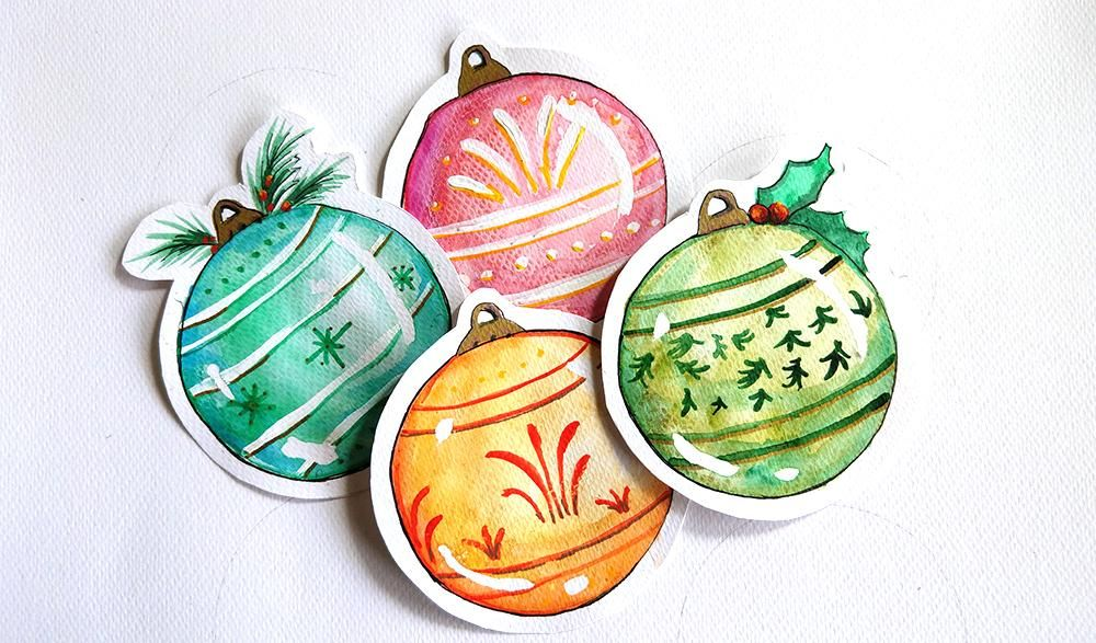 Christmas Ornaments Tags - image 1 - student project