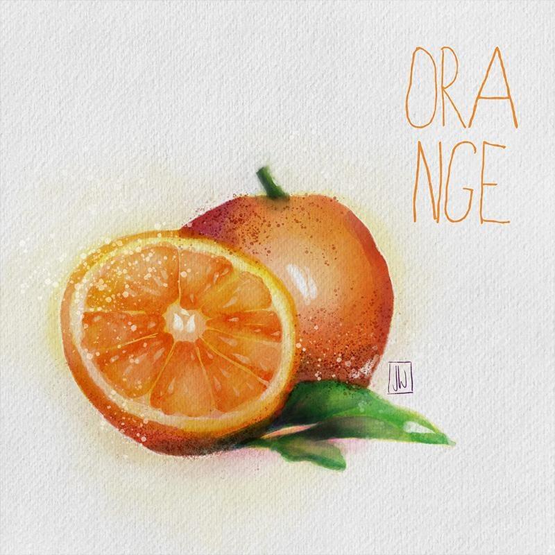 Digital Watercolor Orange - image 2 - student project
