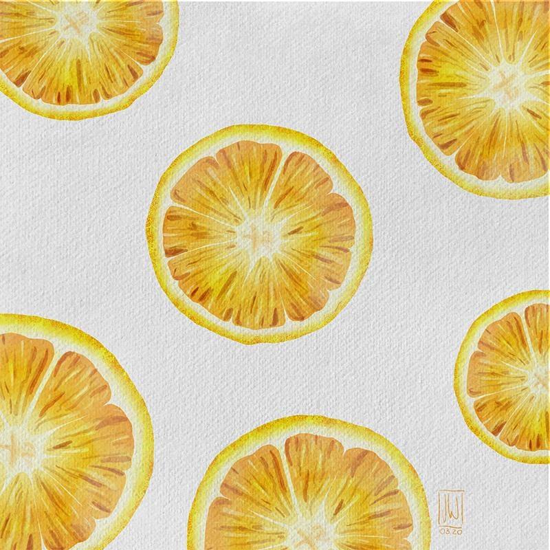 Digital Watercolor Orange - image 1 - student project