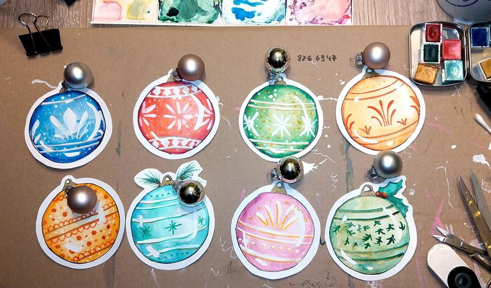 Christmas Ornaments Tags - image 2 - student project