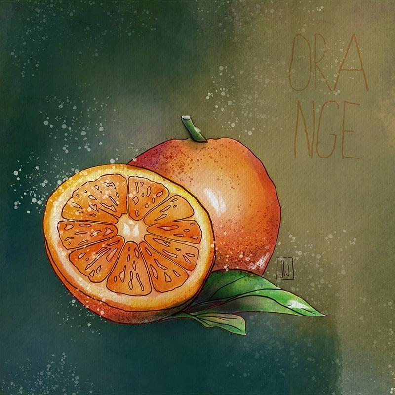 Digital Watercolor Orange - image 3 - student project