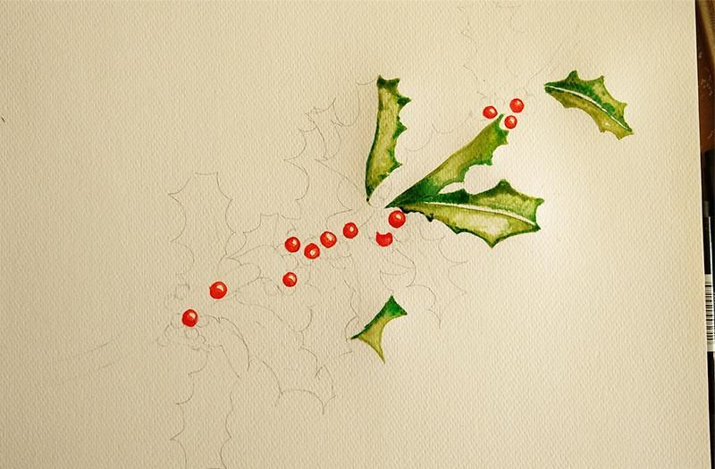 Stechpalme - Holly & Berries - image 2 - student project