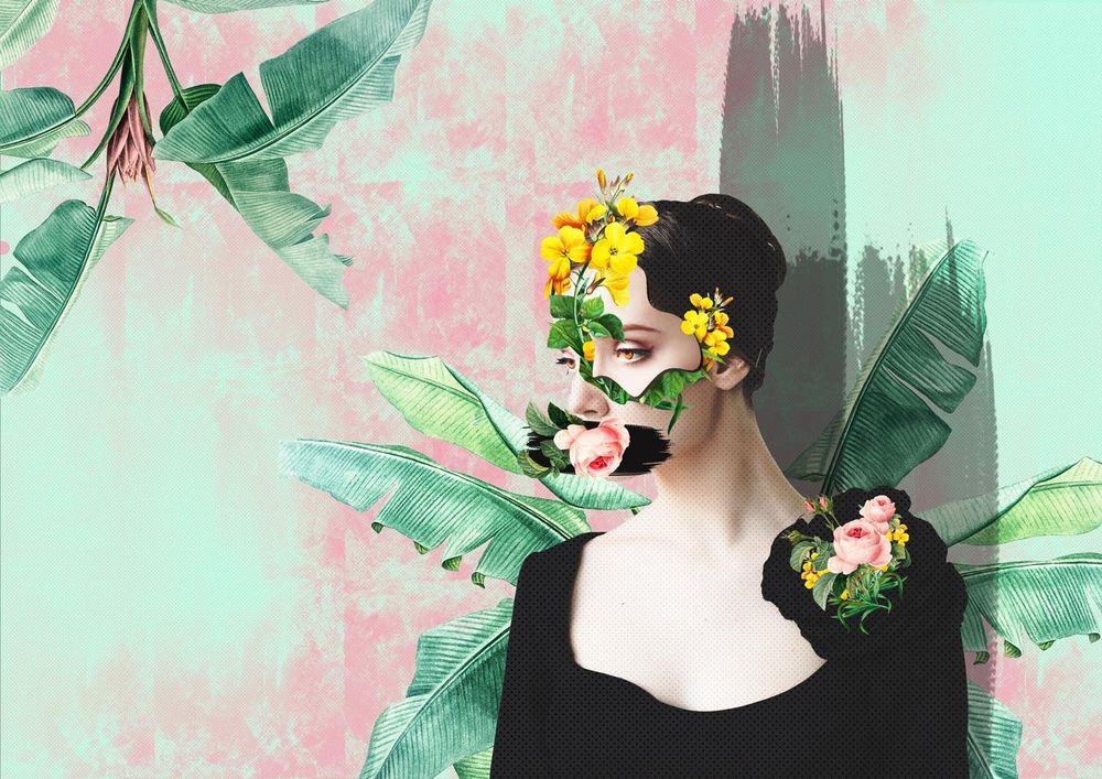 Floral Collage Portraits - image 2 - student project
