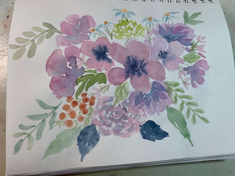Color Mixing for Vintage Flowers - image 1 - student project