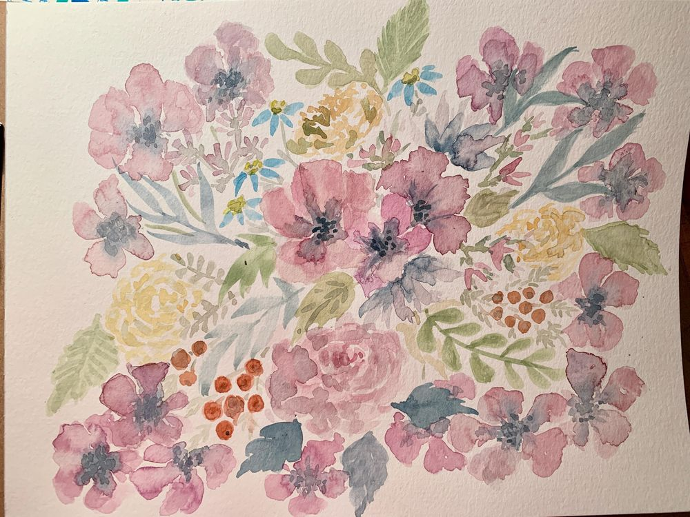 Color Mixing for Vintage Flowers - image 2 - student project
