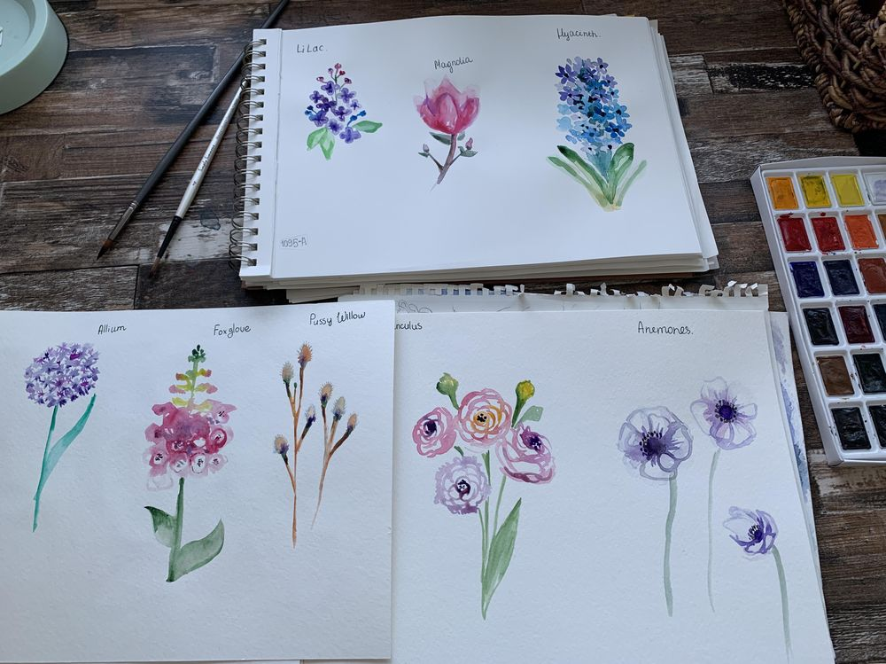 spring flowers - image 1 - student project