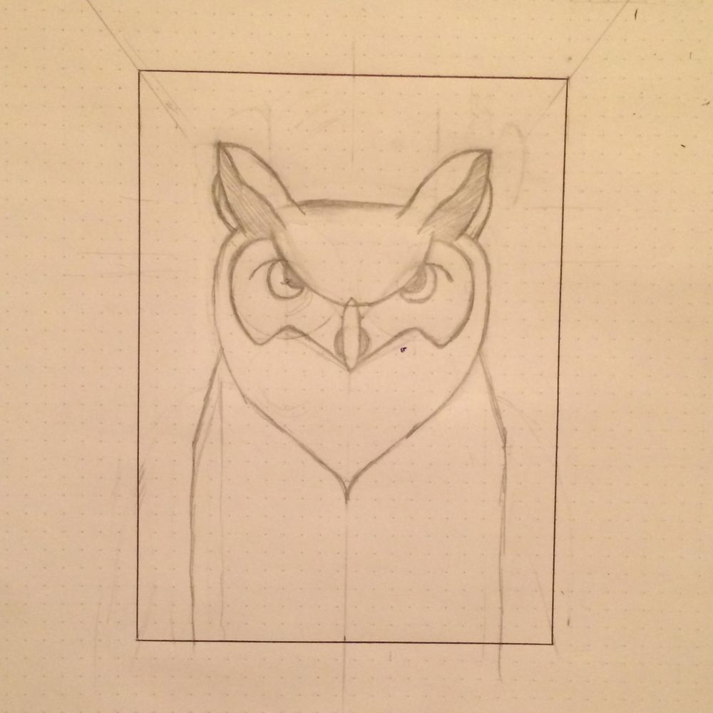Horned Owl - image 1 - student project