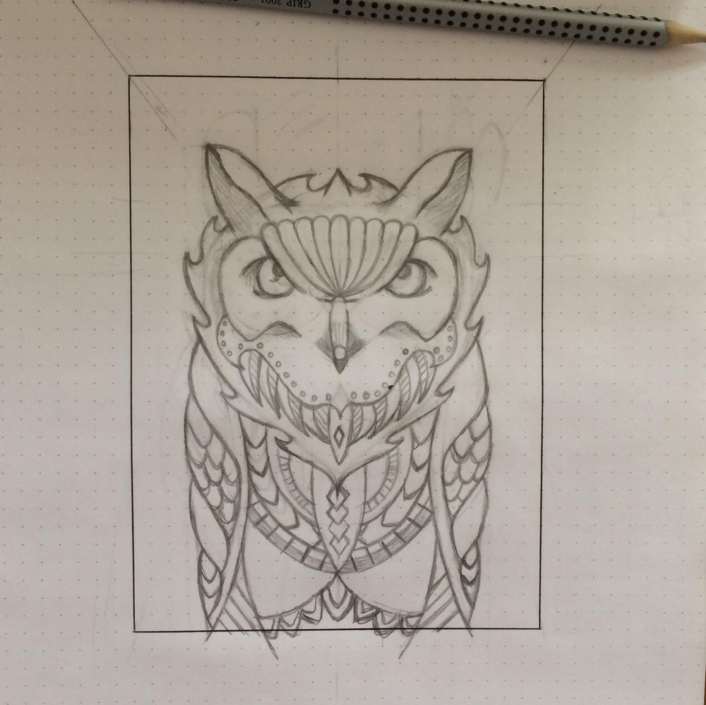 Horned Owl - image 5 - student project