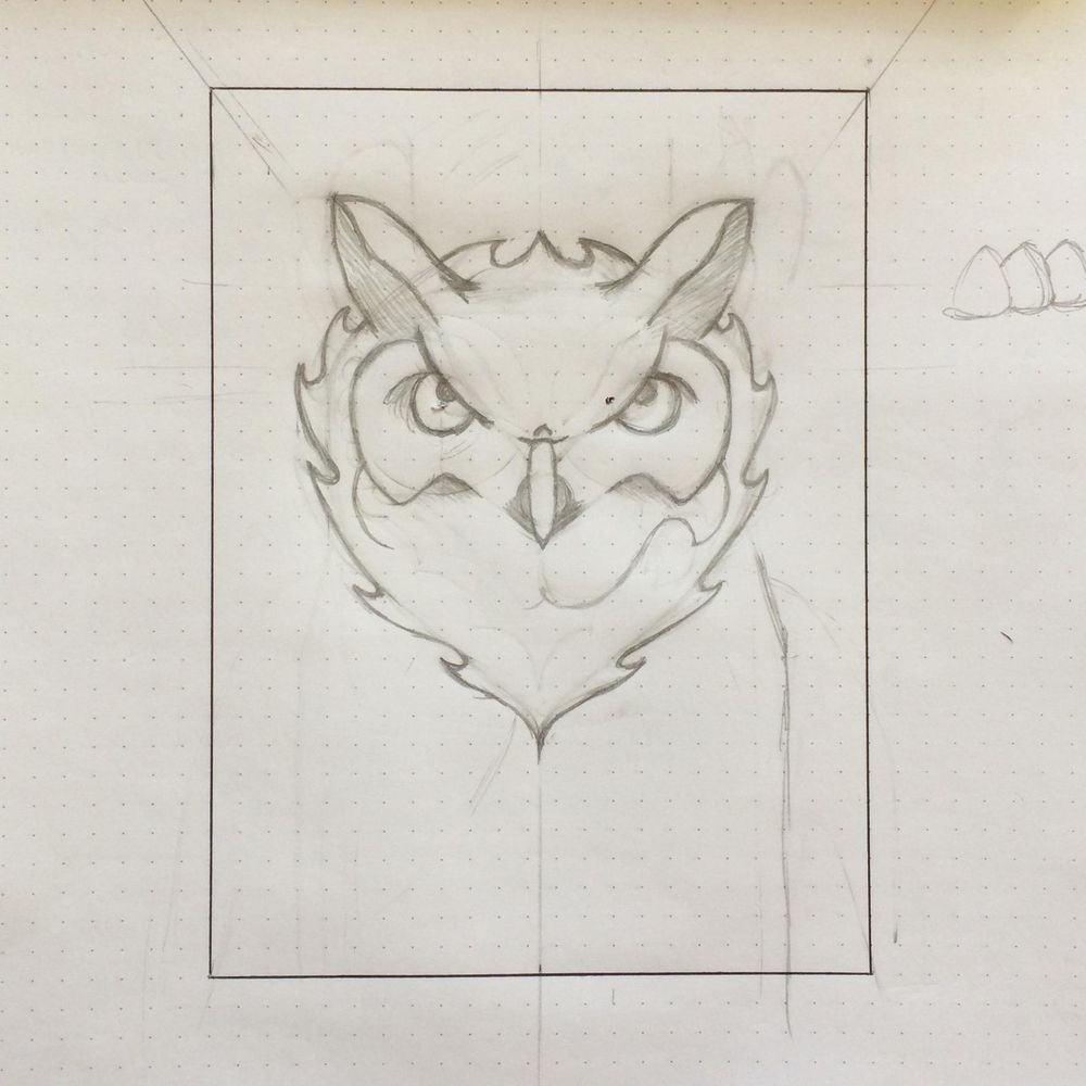Horned Owl - image 2 - student project