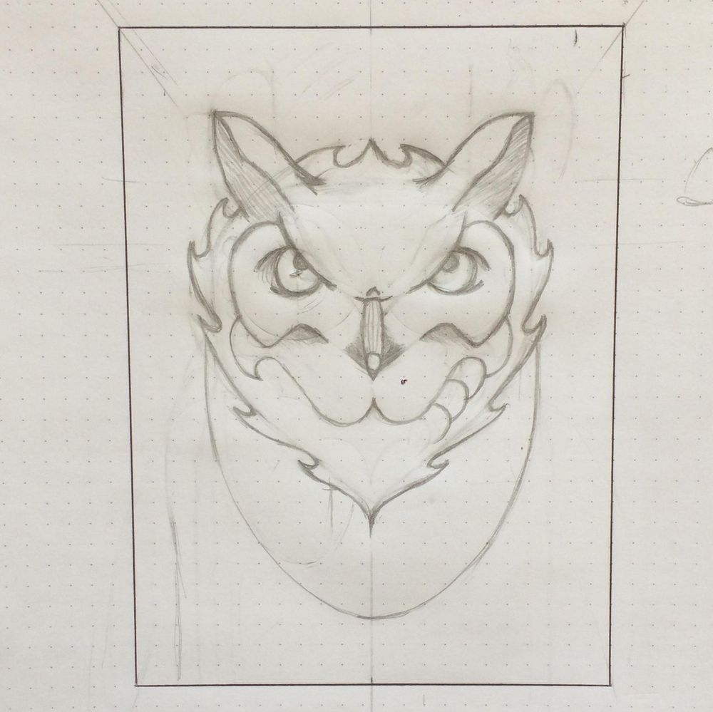 Horned Owl - image 3 - student project